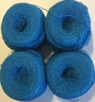 Lace yarn Crystal Col 30-M Royal .Acrylic/Rayon 900 yards per ball.1 lot of 4.