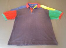 VTG TOMMY HILFIGER GREEN BLUE YELLOW POLO CREST