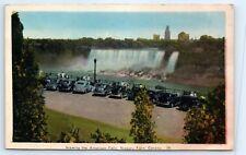 Postcard Canada 1947 Niagara Falls Viewing American Falls Ontario Old Cars B3