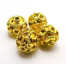 8MM 10MM SOLID COPPER  STERLING SILVER PLATED GOLD PLATED BALI BEAD B6