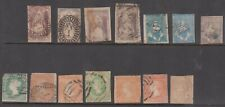Victoria imperf classics with Half Lengths (4) & QOT (4), total 14 stamps.