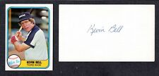Kevin Bell ( Debut 1976 ) WSX A's  SIGNED AUTOGRAPH AUTO 3x5 INDEX COA