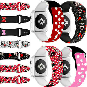 Cute Mickey Mouse Watch Band Belt Replacement Strap for iWatch Series SE 6 5 4 3