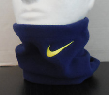 NIKE Youth Unisex Fleece Neck Warmer Color Loyal Blue/Vibrant Yellow New