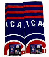 """Two Chicago Cubs Beach Towels Bundled One Price NWT 30"""" x 60"""" Size Sale Hurry"""