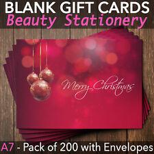 Christmas Gift Vouchers Blank Beauty Salon Card Nail Massage x200 A7+Envelope R