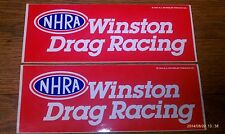 TWO MINT 1997 NHRA WINSTON DRAG RACING Decals! 9.5 x 3.5inches - one LOW PRICE!!