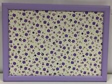 Padded Cushioned Bean Bag Lap Dinner Laptop Food TV Tray - Vintage Lilac Flower