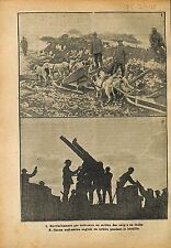 Poilus Chiens Dogs Sled Traineau Alpes Italie Soldiers War WWI 1918 ILLUSTRATION