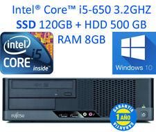 PC Fujitsu Esprimo E9900 Core i5-650 W10  RAM 8 GB  SDD 120GB + HDD 500 GB