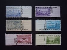 1951 US Commemorative Plate # Single Year Set Complete  #998-1003  MNH