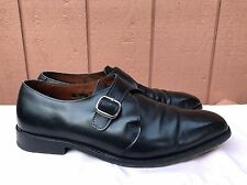 ALLEN EDMONDS BOSTON Monk Strap Buckle Black Leather Mens Dress Shoes US 11 D