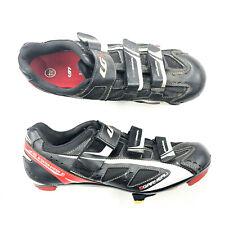 Louis Garneau Ventilator Ergo Air Black Red Cycling Shoes EUR 44 US 12 Women's