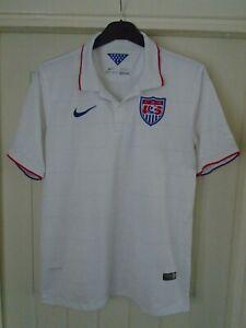 USA AMERICA NIKE HOME FOOTBALL SHIRT - 2014/15 - LARGE ADULT - K119