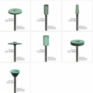 Zirconia - Diamond Impregnated Green Mounted Stones - All Sizes