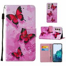 Samsung Galaxy S21 Hülle Case Handy Cover Schutz Tasche Flip Schutzhülle Pink