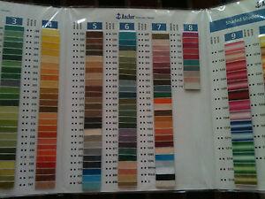 ANCHOR Shade Card Chart Book Colour Card for balls & Floss Plastic Laminated