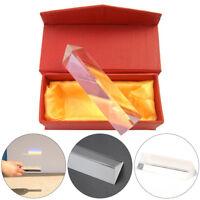 4'' Optical Glass Triangular Prism Physics Refractor Light Spectrum Teaching Box