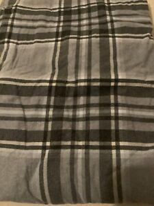 Dunelm Grey Checked Brushed Cotton King Size Super King Duvet Set