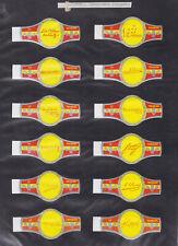 Série complète  Bague de Cigare Vitola Espagne BN115405 Autographe Reforma