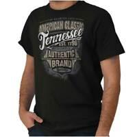 Tennessee American Souvenir Country TN USA Adult Short Sleeve Crewneck Tee