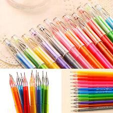 Great Cool Cartoon Fresh Diamond Color Gel Pens Set Student Office Stationery