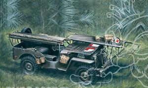 Ambulance Jeep 1/4 ton. 4x4 Plastic Kit 1:35 Model 0326 ITALERI