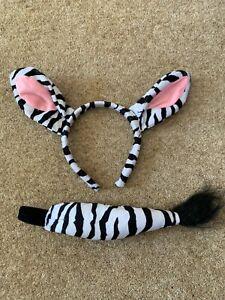 Zebra dress up - kids - headband and tail