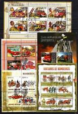 Pompiers lot de 10 séries oblitérés en feuillet