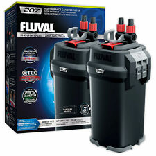 Fluval 207 External Power Filter Includes Media Aquarium Fish Tank Replaces 206