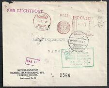 Indonesia 1949 cover special cancel KLM to Bangkok