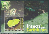 ST. VINCENT GRENADINES CANOUAN INSECTS OF THE CARIBBEAN  SOUVENIR SHEET MINT  NH
