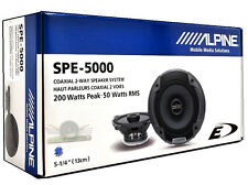 "Alpine SPE-5000 5.25"" 2 Way Pair of Car Speakers Totalling 400 Watts Peak / 100"