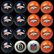 NFL Denver Broncos Pool Ball Billiards Balls Set w/ FREE Shipping