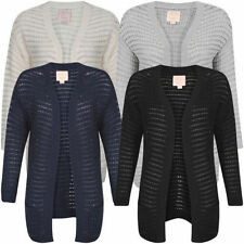 Acrylic Patternless Long Jumpers & Cardigans for Women