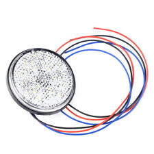 12V White 24 LED Round Rear Stop Brake Tail Light Indicator Truck Trailer UTV