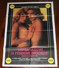 Vanessa Del Rio, Seka DEPRAVAZIONE DI FEMMINE INGORDE Poster Cinema+Locandina