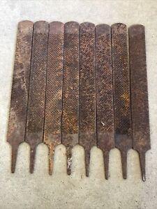 8 FARRIER RASPS Woodworking HORSESHOE FILES 8 in Lot Used