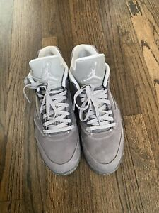 Nike Jordan 5 V Low Golf Wolf Grey Shoes WORN ONCE