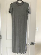 Whistles Gray Summer Dress With 2 Slits Size 2