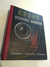 vintage KODAK Reference Handbook 1952 analog film Material Process binder color