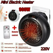 900W Mini Space Heater Fan Portable Plug-in Electric Wall-outlet Warmer