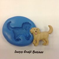 Silicone Mould Labrador Dog Sugarcraft Cup Cake Pop Topper Decorating Sculpey