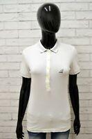 Polo HOGAN Donna Taglia Size L Maglia Maglietta Shirt Camicia Cotone Bianco Slim