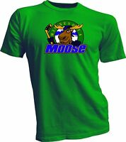 MINNESOTA MOOSE Defunct St. Paul MN IHL Hockey Team Retro GreenT-SHIRT NEW