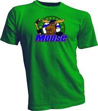 Minnesota Moose Defunct St. Paul Mn Ihl Hockey Team Retro GreenT-Shirt New