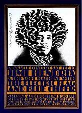 Jimi Hendrix Poster Pinnacle Shrine Blue Cheer John Van Hamersveld Hand Signed
