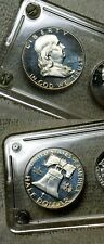 *Scarce 1962 ❄⛄FROSTY❄ Deep Cameo Gem Proof Franklin Half Dollar + 5 Coin PR Set