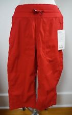 NEW LULULEMON red Studio Crop Pants Dance Casual unlined size 6 NWT