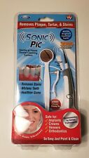 Sonic Pic Gentle Home Dental Cleaning System Plaque Stains Removal Whitens Teeth